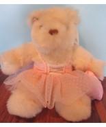 Stuffed Plush Teddy Bear Avon Angel Wings Heart Tutu Bears Angels Ballerina - $20.20