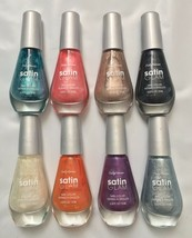 Lot of 8: NEW Sally Hansen Satin Glam Nail Color Polish - Complete Set! - $29.69