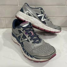 New Balance 840v3 Womens 9 B Gray Blue Pink Comfort Running Shoes W840WP3 - $19.79