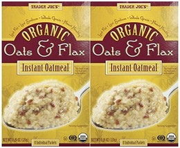 Trader Joe's Organic Oats and Flax Instant Oatmeal, 11.29 Ounce, Pack of 2 - $25.52
