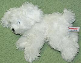 """AURORA 9"""" PUPPY DOG WHITE STUFFED ANIMAL FLOPSIE WESTIE TERRIER BEANBAG ... - $14.85"""