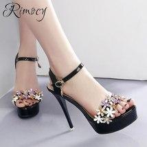 new platform sexy 2018 summer a super elegant women's sandals Rimocy heels high wzXa5O5q
