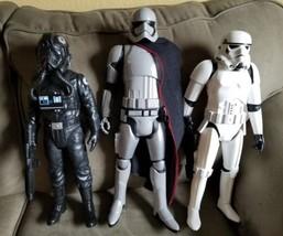 "3 Star Wars Force Awakens Jakks 18"" Captain Phasma, Tie Pilot, Stormtrooper - $59.39"