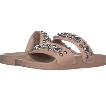 Steve Madden Shinin Rhinestone Slip On Sandals 921, Blush, 6 US - $20.15