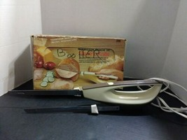 VINTAGE HAMILTON BEACH ALMOND COLOR #296 ELECTRIC KNIFE IN BOX TESTED - $24.99