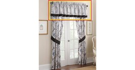 "Waterford Emerson 55""x 21"" Tailored Window Valance Chocolate Band - $25.73"