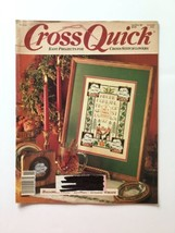 Cross Quick Cross Stitch  Magazine October November 1989 Volume 2 Number 1 - $4.94