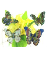 Cloisonne Butterfly picks. Set of 4pc. Decorate your garden!!    4400p - $28.95