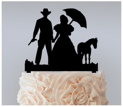 Wedding Cake topper,Cupcake topper,Cowboy Bride and Groom Package : 11 pcs - $20.00