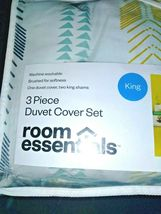 3 Piece Room Essentials Arrow Print KING Duvet Cover Bed Set -2 Shams + 1 Cover image 4