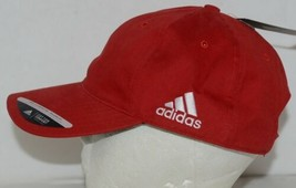 Adidas Golf Headwear Powdered Red White One Size Fits Most B89899 image 2