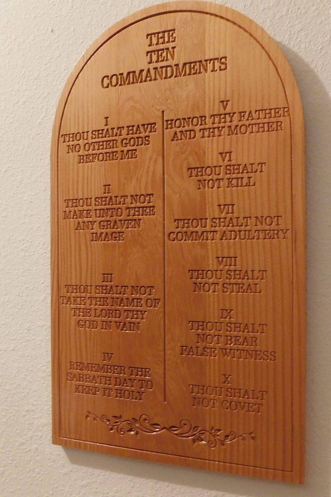 Ten Commandments Plaque/Spiritual/Religious/Home decor/Wall hanging
