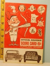 1963 Cleveland Indians Baseball Score Card v Twins May 19th Battey HR - $19.75