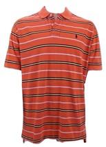 Polo Ralph Lauren Striped Orange Polo Shirt Men's XL 100% Cotton - $18.81