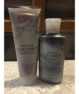 Set 2 Bath and Body Works FROSTED COCONUT SNOWBALL Ultra Shea Cream Show... - $23.66