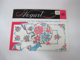 Vintage Vogart Embroidery Transfers 629 Petite Point Large Tablecloths &... - $6.44