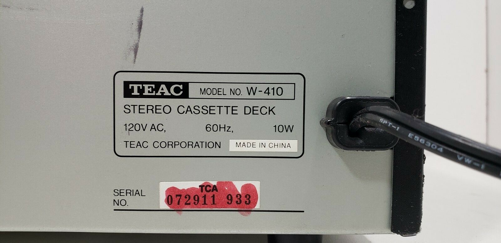 TEAC Stereo Double Cassette Deck W-410..Tested image 8