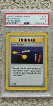 Pokemon Item Finder 74/102 1st Edition Base Set PSA 9 TCG Game 1999 Shad... - $79.99