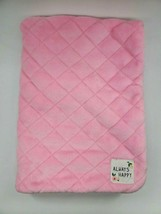 Carter's Always Happy Pink Fleece Baby Blanket Lovey Soft Thick  Quilted... - $29.99