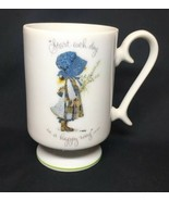 HOLLY HOBBIE Vintage Genuine Porcelain Start Each Day Pedestal Coffee Te... - $12.50