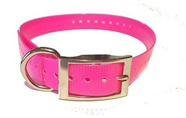 "SparkyPetCo 3/4"" Square Buckle High Flex Neon Pink Dog Strap For Garmin ... - $8.77"