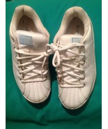 RARE CONVERSE CHUCK TAYLOR ALL STAR WHITE LEATHER SNEAKERS WOMEN'S LIMIT... - $36.17