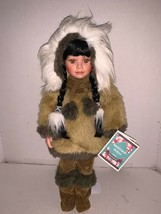 "Heritage Dolls Indian Arts and Crafts Porcelain Eskimo Doll 17"" - $30.00"
