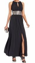 2821-2  R & M RICHARDS Beaded Waist Halter Gown Womens Dress 14 $119 - $71.28