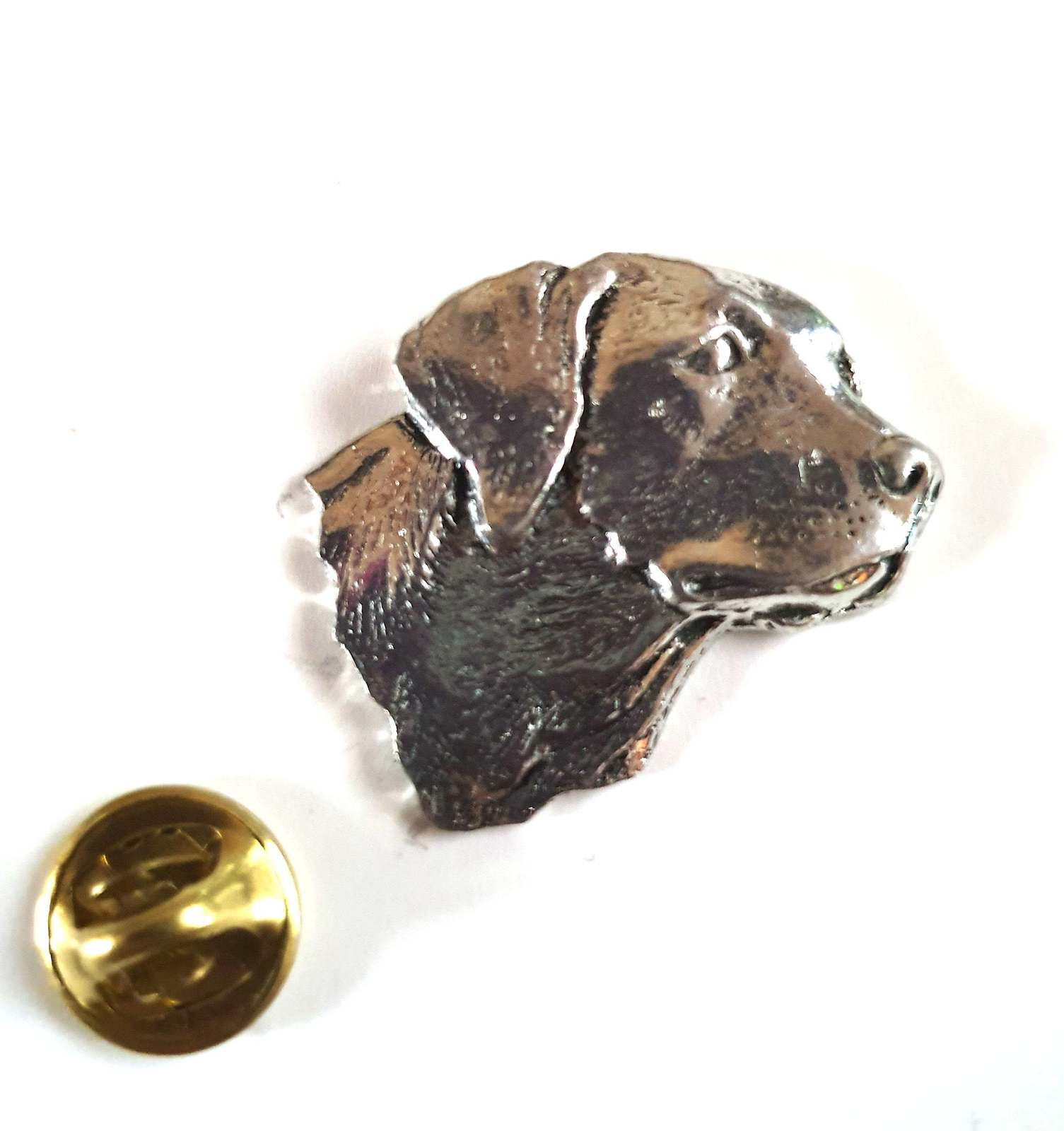 large labrador head Lapel Pin Badge, gift boxed