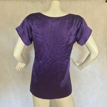 DVF Diane Von Furstenberg Purple top blouse 100% silk size 0 Career work image 4