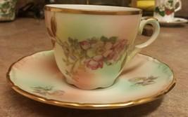 Vintage Bavarian Tea Cup & Saucer by Schumann A... - $14.96