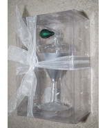 Livng Quarters Carsons Vodka Martini Olive Christmas Ornament Blown Glas... - $14.80