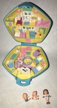Vintage 1992 Polly Pocket RARE BLUE Polly in the Nursery Compact COMPLETE - $69.29