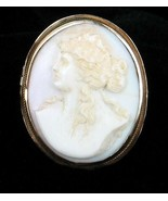 Antique 1860 10K Gold Pink Conch Shell Cameo Pin Victorian Classical Bea... - $296.99
