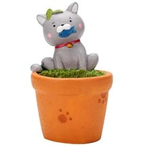 Panda Superstore Lovely Glutton Cat Table Decorations Mini Resin Flowerpot