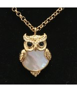 """Kate Spade Into The Woods Owl Mother of Pearl Pendant Necklace 36-38"""" N3 - $46.75"""