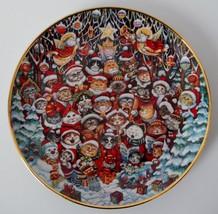 Santa Claws Franklin Mint Plate Bill Bell Limited ED Cat Kitten Kitty C-... - $22.77