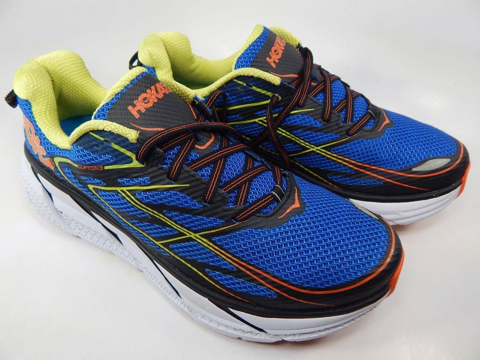 Hoka One One Clifton 3 Size 9 M (D) EU 42 2/3 Men's Running Shoes Blue 1012046