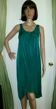 Gilligan & O'malley Nightgown Gown Nightie Long XS Emerald Green NWT - $14.49