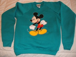 Mickey Mouse on a Teal Youth Sweatshirt size XL/14-16  - $18.00