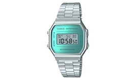 Casio Unisex Silver Stainless Steel Bracelet Watch Has A Classic Retro S... - $133.82 CAD