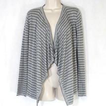 Ann Taylor Loft Open Front Waterfall Cardigan Sweater Women Size S Gray ... - $11.32