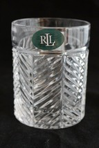 Brand New Ralph Lauren Lead Crystal Double Old Fashioned Herringbone Gla... - $12.99