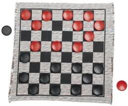 Jumbo Checker Rug Game Checkers Mat Large Kids Adults Hobbies Fun Outdoo... - $16.44