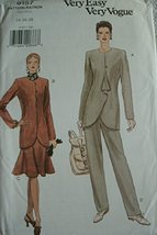 Misses Jacket, Skirt and Pants Sizes 14-16-18 Very Easy Very Vogue Pattern 9157  - $8.00