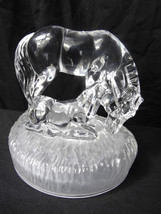 Royal Crystal Rock Glass Animal Horse & Foul Sculpture Ornament Paperweight - $201.59