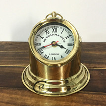 Portable Desk/Office Clocks Nautical Design Maritime Decor Unique Clocks Glass N - $33.88