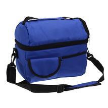 (navy blue)8L Square Thermal Bag Women Men Lunch Bag Cooler Beam Port Lu... - $34.00