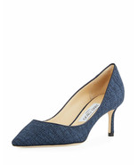 Jimmy Choo Romy 60mm Canvas Pump Size 37.5 - $395.99
