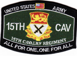 "4.5"" Army 15TH Calvary Regiment All For One One For All Embroidered Patch - $17.09"